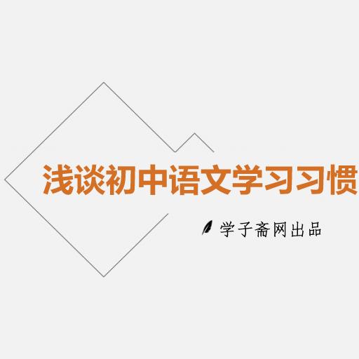 浅谈初中语文学习习惯
